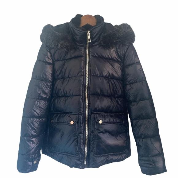 YMI Women's Black Puffer Coat w/hood